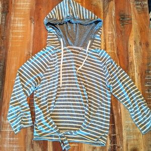 Calvin Klein Performance Hoodie Gray Striped